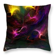 Electric Abstract 052510 Throw Pillow