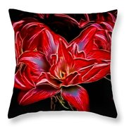 Electric Amaryillis Throw Pillow