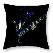 Electric Angus Throw Pillow