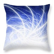 Electric Beams Throw Pillow