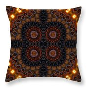 Electric Blue Midway Throw Pillow