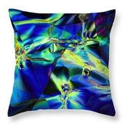 Electric Cellophane Throw Pillow