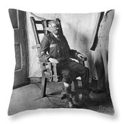 Electric Chair, 1908 Throw Pillow