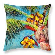 Electric Coconuts IIi Throw Pillow