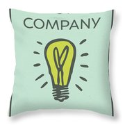 Electric Company Vintage Monopoly Board Game Theme Card Throw Pillow