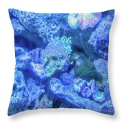Electric Coral Throw Pillow