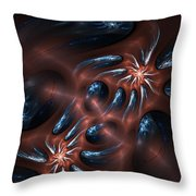 Electric Crabs Throw Pillow