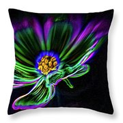 Electric Daisy Throw Pillow