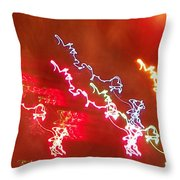 Electric Dazzle Abstract Throw Pillow