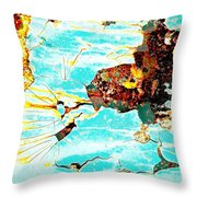 Sparky The Electric Dog Throw Pillow