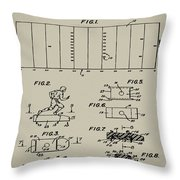 Electric Football Patent 1955 Aged Gray Throw Pillow