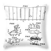 Electric Football Patent 1955 Throw Pillow