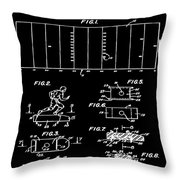 Electric Football Patent 1955 Black Throw Pillow