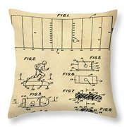 Electric Football Patent 1955 Sepia Throw Pillow
