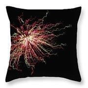 Electric Galaxy Throw Pillow