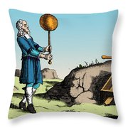 Electric Generator, Otto Von Guericke Throw Pillow