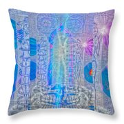 Electric Girls Squared Throw Pillow