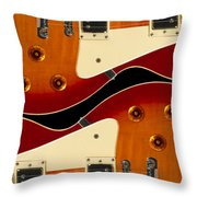 Electric Guitar II Throw Pillow by Mike McGlothlen