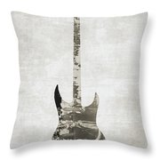Electric Guitar Sepia Throw Pillow