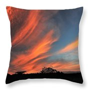 Electric Hawaiian Sunset Big Island Hawaii Throw Pillow