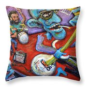 Electric Heartache Throw Pillow