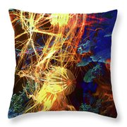 Electric Jellies Throw Pillow