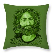 Electric Jerry Olive - T-shirts-etc Throw Pillow