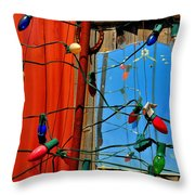 Electric Lady Land Throw Pillow