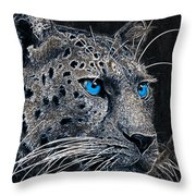 Electric Leopard Throw Pillow