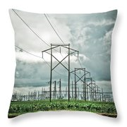 Electric Lines And Weather Throw Pillow