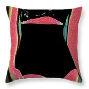 Electric Lingerie Throw Pillow