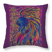 Electric Little Fish Throw Pillow