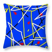 Electric Midnight Throw Pillow by Paulo Guimaraes