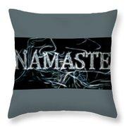 Electric Namaste Throw Pillow