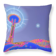 Electric Needle Throw Pillow