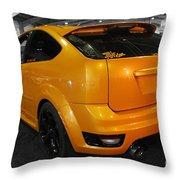 Electric Orange Throw Pillow