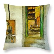 Electric Panel Of The Ceramic Laboratory Throw Pillow
