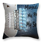 Electric Passion And Soul  Throw Pillow