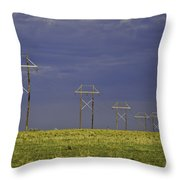 Electric Pasture Throw Pillow by Melany Sarafis