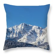 Electric Peak Throw Pillow