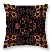 Electric Pink Folk Fresco Throw Pillow