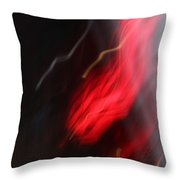 Electric Red And Yellow Throw Pillow