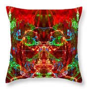 Electric Red Throw Pillow
