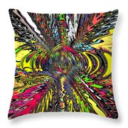 Electric Ripples Throw Pillow