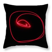 Electric Sea Shell Throw Pillow