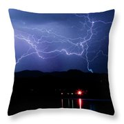 Electric Skies  Throw Pillow