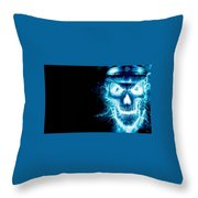 Electric Skull Throw Pillow