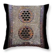 Electric Smiles Throw Pillow