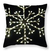 Electric Snowflake Throw Pillow