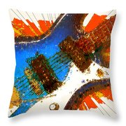 Electric Strings Throw Pillow by David G Paul